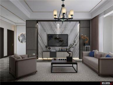 青岛海德堡典雅大气新中式风格三居室装修案例图