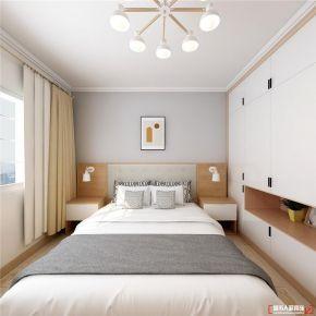 青岛龙湖澜庭治愈日式原木风格三室装修案例图