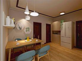 青岛党校公寓混搭风格三居室装修案例图