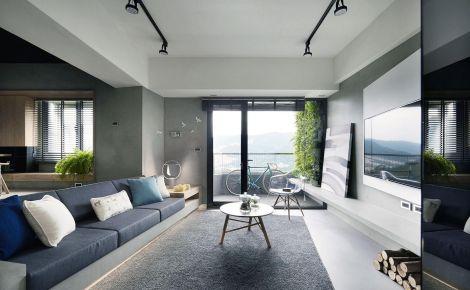 广州新塘简约地中海时尚风三居室装修效果图