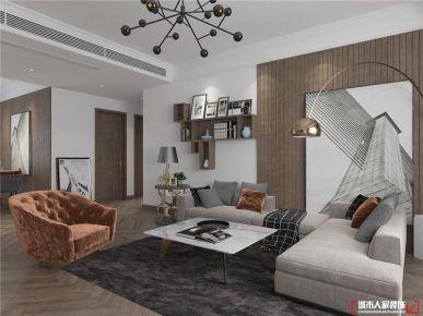 青岛兰园现代简约风格三居室装修案例图