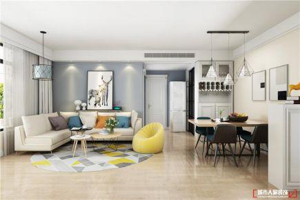 青岛龙海明珠温馨现代简约风格三居室装修案例图