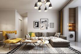 青岛蓝山湾北欧风格温馨二居室装修案例图