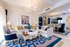 徐州和平上東創意混搭地中海風格三居室裝修設計