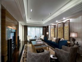 宁波古典中式三室装修效果图