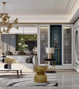 昆明时尚现代轻奢风四居室装修效果图