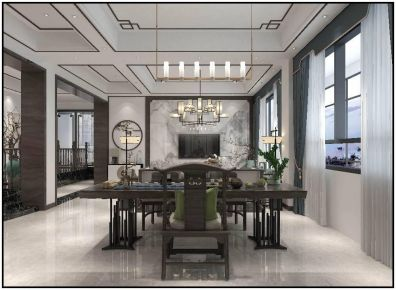 泉州新中式風格四室裝修效果圖,雅致寧靜的東方韻味
