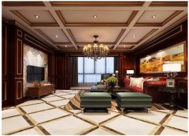 泉州复古美式风四室装修效果图,令人怦然心动