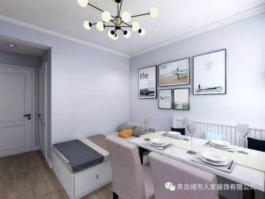 青島海博雅苑現代簡約風格一居室裝修案例圖