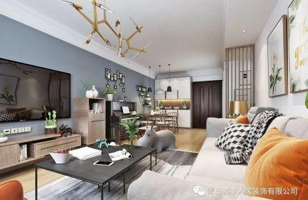 青岛康嘉景园现代简约风格三居室装修案例图