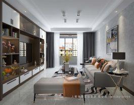 太原竞杰常青藤141现代风格三室装修设计案例