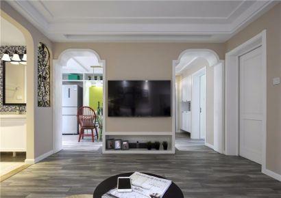 福州104平优雅简约美式两居室装修设计