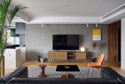 太原極簡風格三室裝修效果圖,黑白時尚演繹永恒經典
