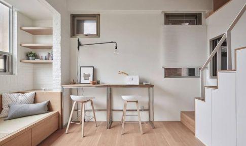 太原小复式简约风格装修,打造一个清新淡雅的家!