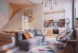 太原小户型公寓简约风格装修效果图展示