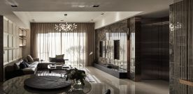 广州现代轻奢混搭三居室装修效果图展示