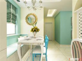 青島和達璟城地中海風格溫馨三居室裝修案例圖