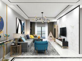 信阳时尚现代简约风格三室装修效果图展示