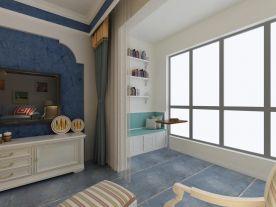 青島藍泰海樂府浪漫地中海風格三居室裝修案例圖