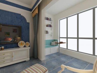 青岛蓝泰海乐府浪漫地中海风格三居室装修案例图
