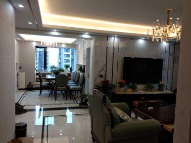杭州上亿彩虹郡4室2厅现代轻奢风格装修案例