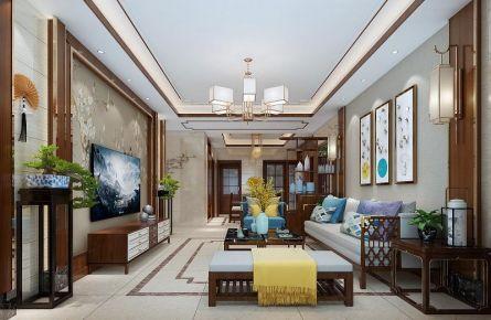 衡阳欧洲印象新中式风格四室装修效果图