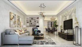 无锡时尚大气现代简约三室装修效果图