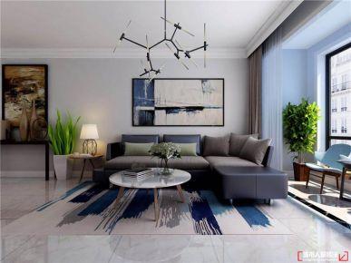 青岛蔚蓝群岛现代简约二居室装修案例图