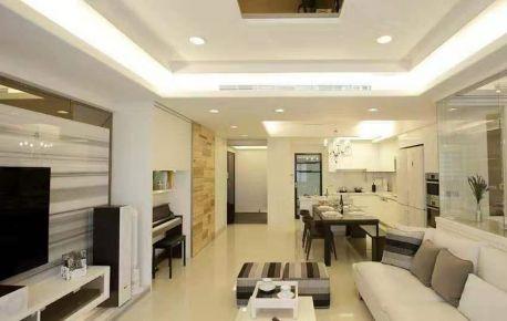 無錫現代極簡三室裝修效果圖,化繁為簡,簡單生活!