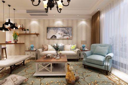 青岛长沙小区欧式风格别墅装修案例图