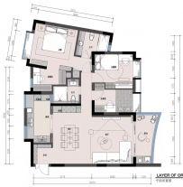 海口輕奢美式三居室裝修案例通透大氣、時尚精致,享受高品質生活!