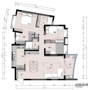 海口轻奢美式三居室装修案例通透大气、时尚精致,享受高品质生活!