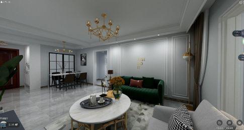 廊坊洛克公館輕奢風兩室裝修,理想生活就應該這樣精致!