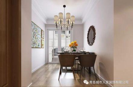 青岛绿城兰园现代简约风格三居室装修案例图