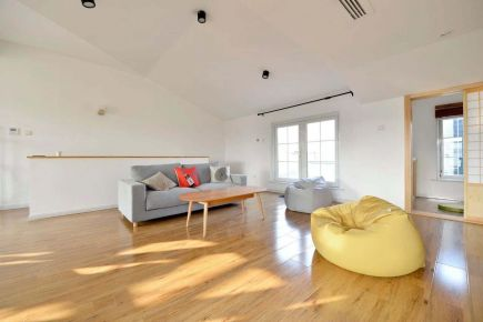 福州230㎡日式風格復式裝修,原木與白打造舒適之家