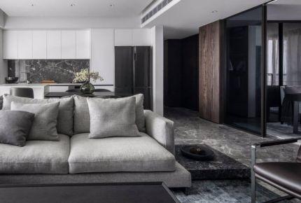 杭州黑白灰現代簡約三室裝修,極致簡約彰顯個性