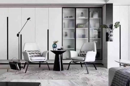 杭州现代风格四室装修,简约时尚演绎质感生活!