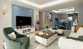 南寧教育路3號小區140平米四室溫馨簡歐風格裝修