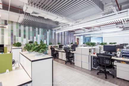 深圳服装公司现代简约风办公室装修效果图