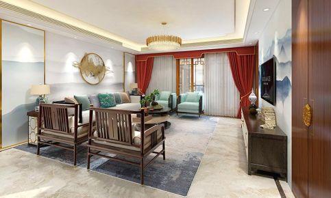 南寧恒悅居175平米五居室古典新中式風格裝修效果圖