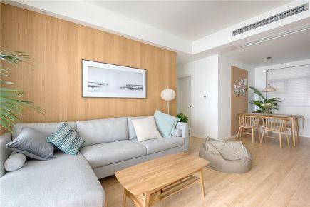 呼和浩特三居室现代简约风格装修效果图,回归简单原味生活!