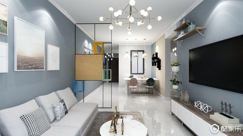 太原東辰祥瑞98㎡三室北歐風格裝修,塑造簡雅空間,聆聽時尚箴言
