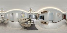 珠海優雅大氣現代簡約風格三室裝修效果圖