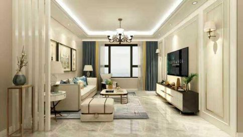 太原启明城130㎡三室轻奢风格装修,演绎都市生活之美