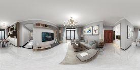 珠海現代簡約風格三居裝修,色彩柔和,時尚舒適