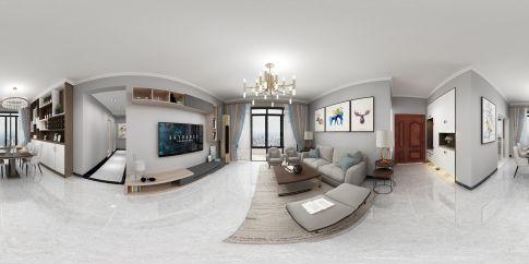 珠海现代简约风格三居装修,色彩柔和,时尚舒适