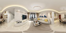 珠海現代風格三室裝修,享受繁華都市中的小資風情