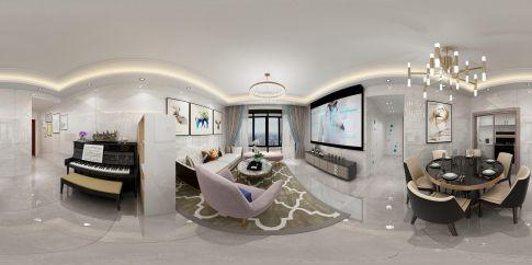 珠海現代簡約風格三室裝修案例效果圖