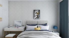 青島宜景灣美式風格二居室裝修效果圖