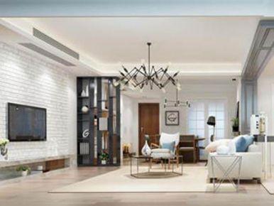 贛州雅致新中式風格三居室裝修效果圖